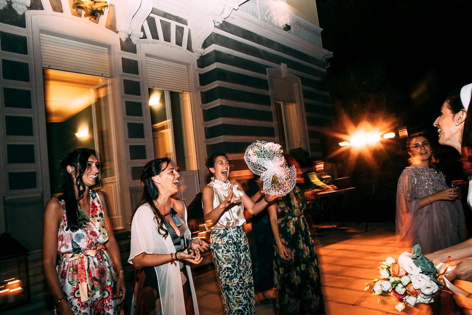 lancio del bouquet a villa lagorio