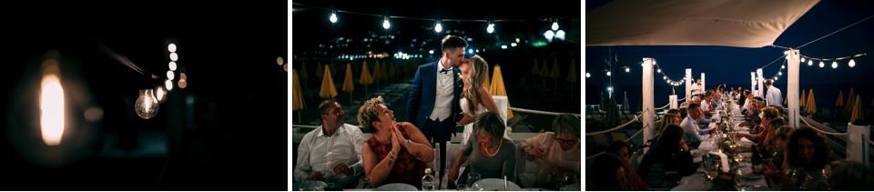 cena di matrimonio all'aperto ai sirio beach di spotorno