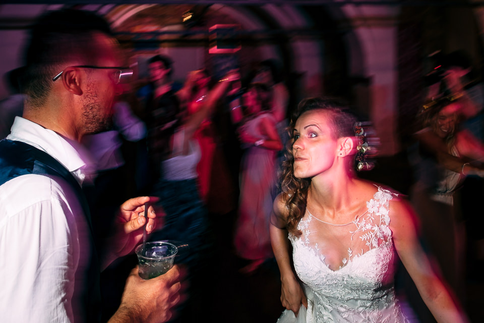 sposi che si divertono a sartirana